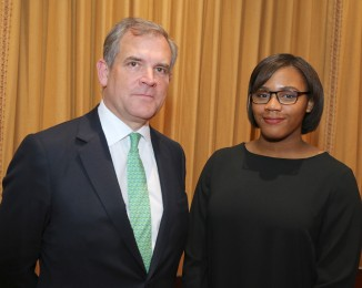 Lloyds_chairman_Bruce-Carnegie-Brown_and_sixth_form_student_Shenice_Osisioma